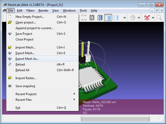 DIT: Useful Stuff - From KiCAD to CAD via VRML